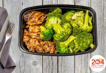 Baked Chicken Thigh with Broccoli | Keto