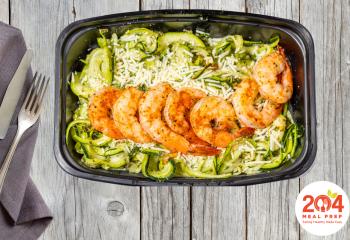 Cajun Pesto Shrimp Zoodles | Keto