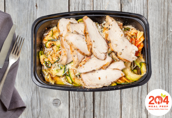Citrus Marinara Fusilli with Grilled Chicken | Lean