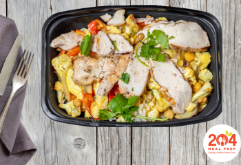 Coconut Curry Bowl with Grilled Chicken