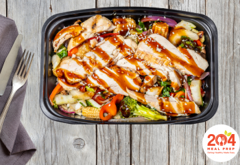 Teriyaki Brown Rice Bowl with Grilled Chicken