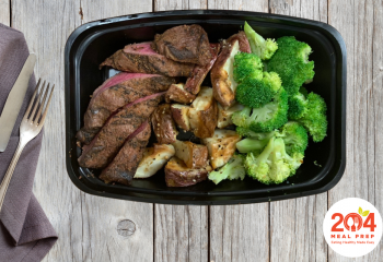 Grilled Sirloin with Broccoli & Roasted Potatoes | Lean