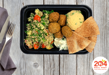 Zaatar Falafel and Tabouleh Salad