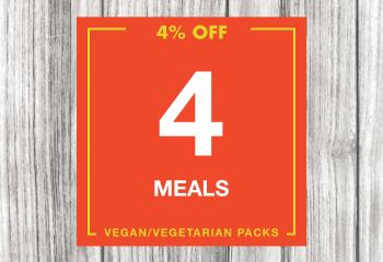 4 Vegan Meal Pack