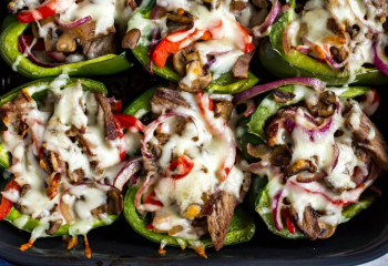 Philly Cheese Steak Peppers | Keto